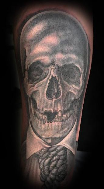 Skull and Noose Tattoo Tattoo Design Thumbnail